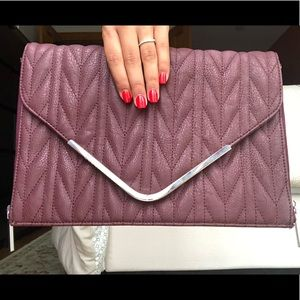 BCBGeneration Maroon Envelope Clutch
